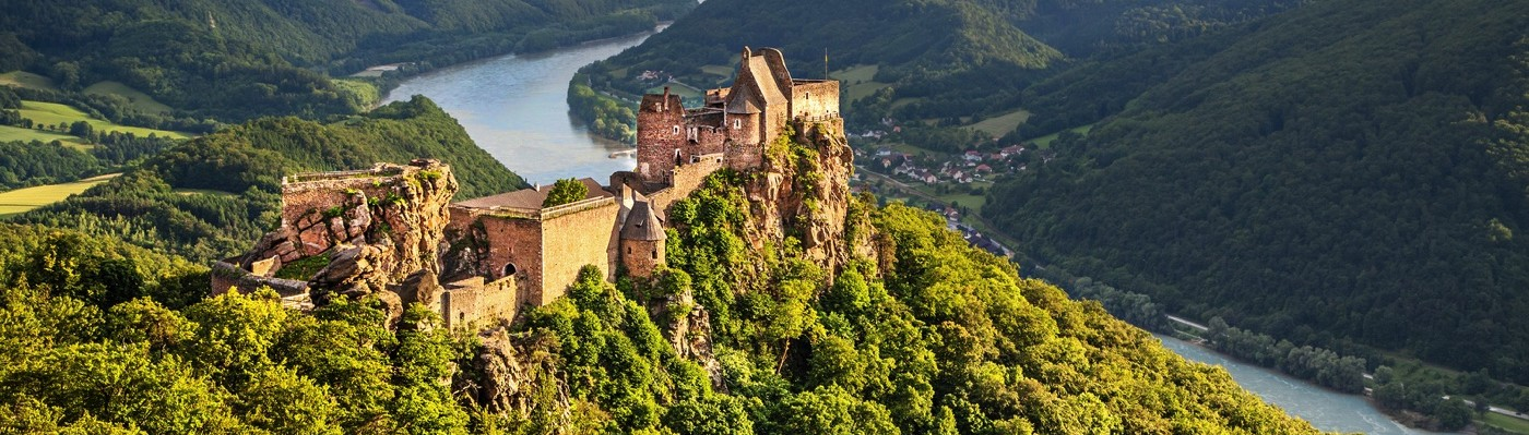 Aggstein Castle with Danube River • Wachau, Austria