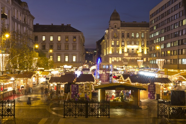 Christmas Fair at Vörösmarty Square • Budapest, Hungary