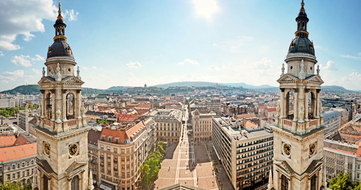 Panoramic View from St. Stephen's Basilica • Budapest, Hungary