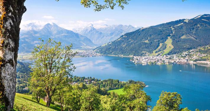 Zell Am See with Zeller Lake • Salzburger Land, Austria
