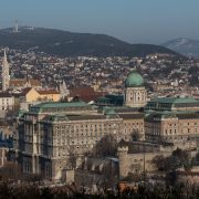 The Castle and the Buda Hills in Winter • Budapest, Hungary