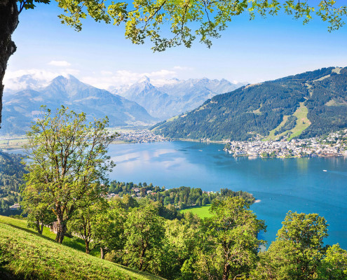 Zell Am See with Zeller Lake • Salzburger Land, Austria